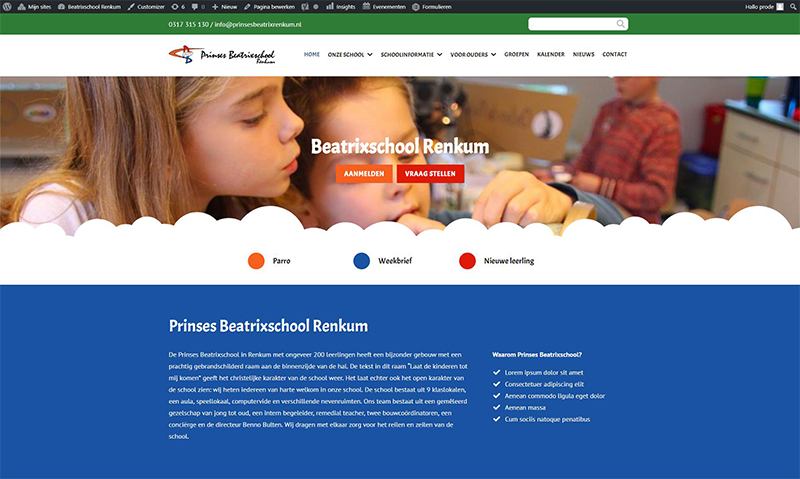 Prinses Beatrixschool Renkum - website